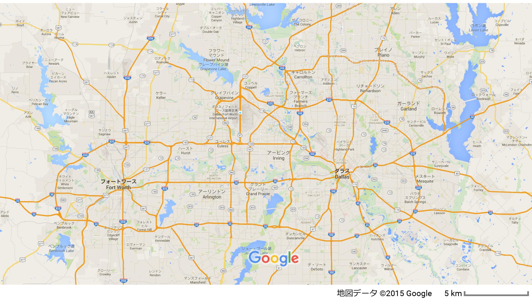 ダラス地図2